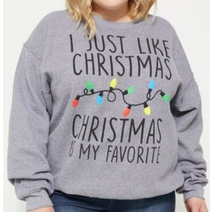 Gray Christmas is my favorite sweatshirt